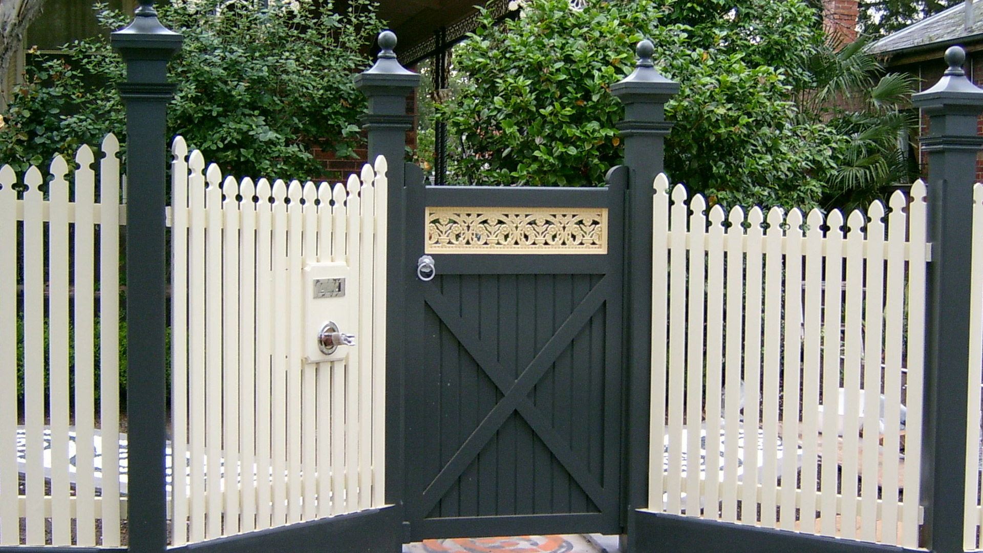 Picket fence styles geelong belmont fencing products Tudor style fence